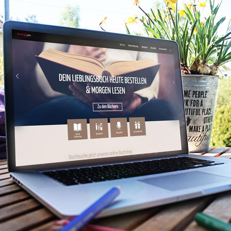 mr. pixel KG | Buchhandlung Bögl Website