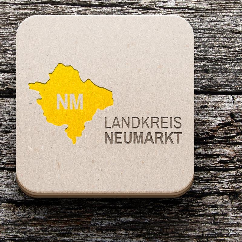 mr. pixel KG | Landkreis Neumarkt Logo Prägung