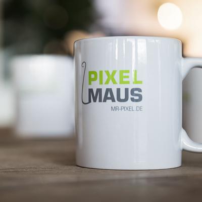 Tasse Pixel Maus
