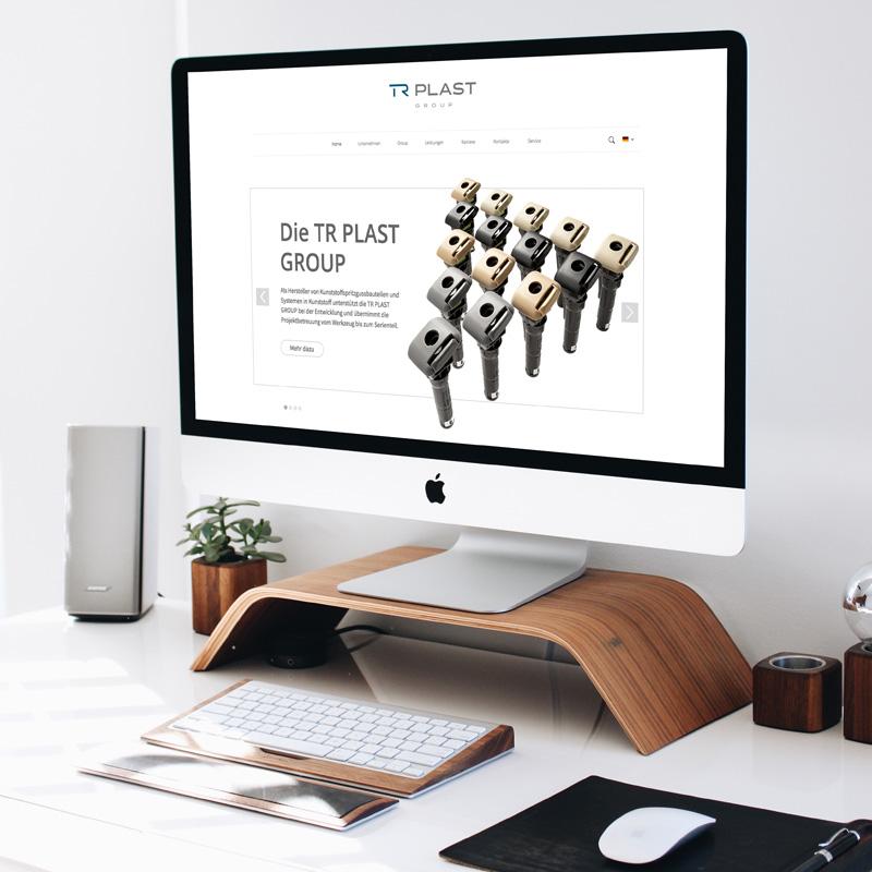 mr. pixel KG | TR Plast responsive Website iMac