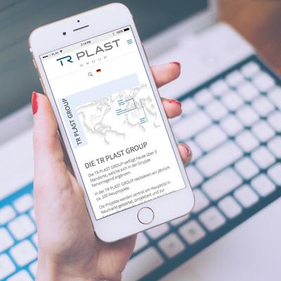 mr. pixel KG | TR Plast responsive Website iPhone