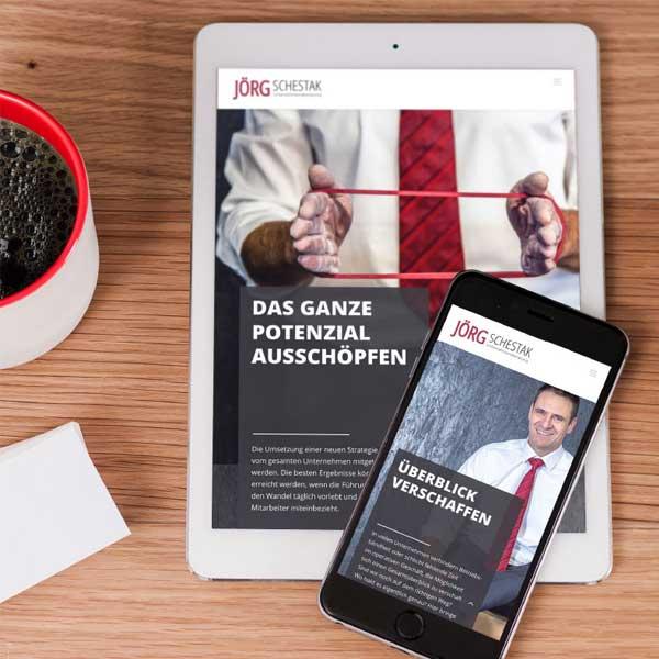 Unternehmensberatung Joerg Schestak |Responsive