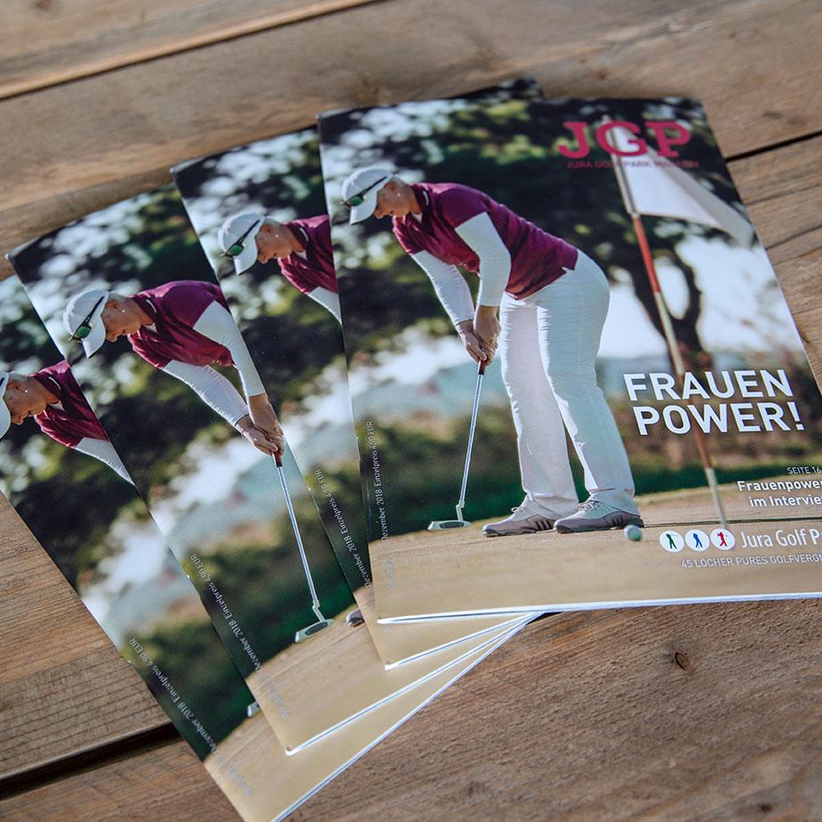 mr. pixel KG | Jura Golf Park Magazin | Frauenpower
