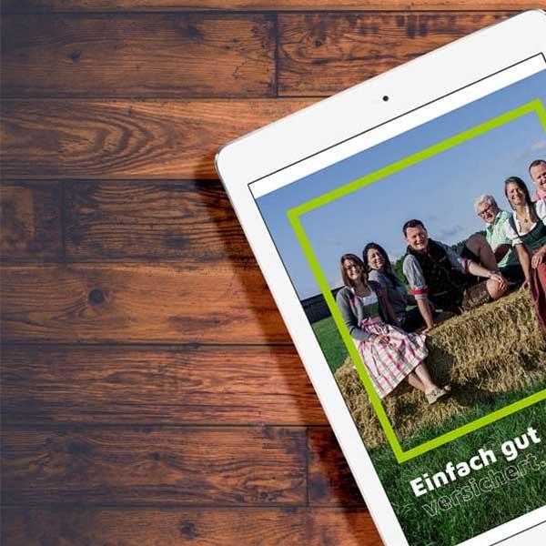 mr. pixel KG | Versicherung Wedinger | iPad links