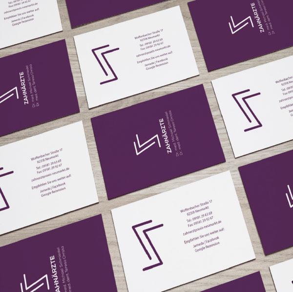 mr. pixel KG | Zahnarzt Schmiedel | Visitenkarten