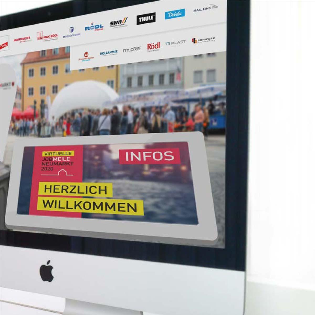 mr. pixel KG | Virtuelle Jobmeile Eingang