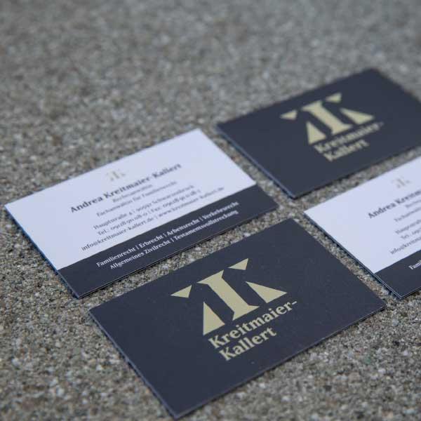 mr. pixel KG | Kreitmaier-Kallert-Visitenkarten