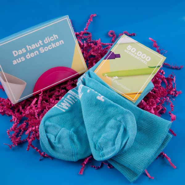 Twin-Promotion-blaue-Socken