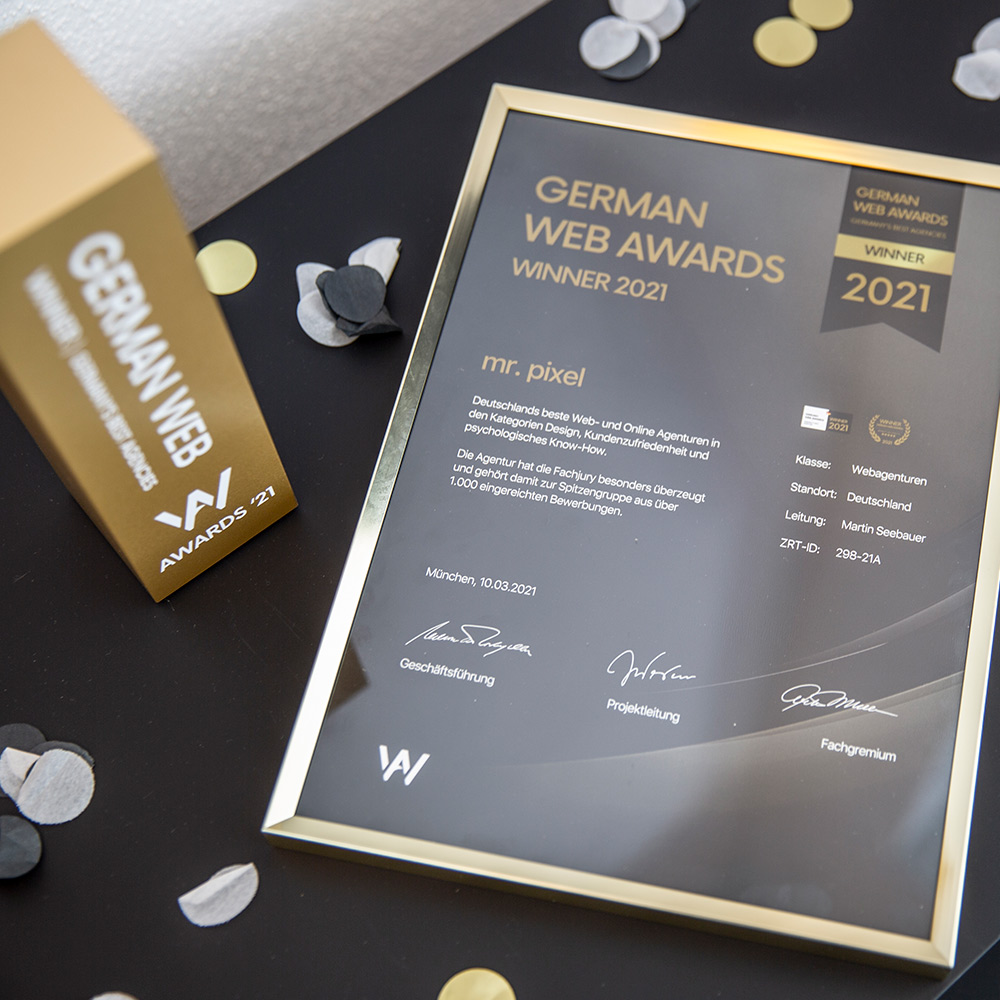 german web award mr. pixel KG